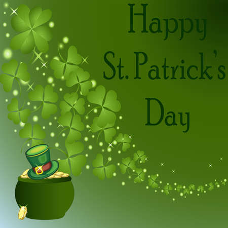 St Patrick's Day-Pot van Goud met Groene Hoed Stockfoto - 24952310