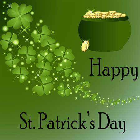 St Patrick s Day-Pot of Gold Stock Photo - 24952312