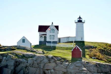 Cape Neddick  Nubbles , Lighthouse, Maine, USA