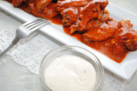 Spicy Buffalo Wings with Dipping Sauce photo