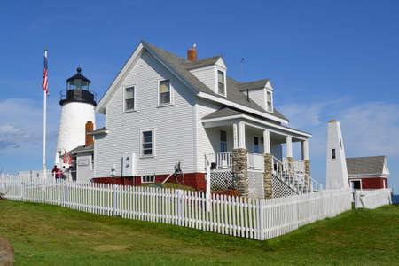 Pemaquid Light Maine, Estados Unidos Foto de archivo - 25009777