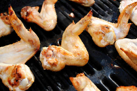 Grilling Tasty Chicken Wings photo