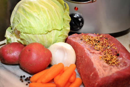 Slow Cooker Corned Beef Ingredients photo