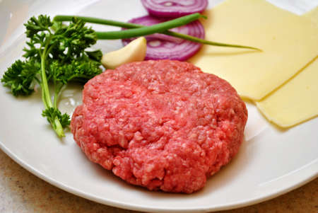 Hamburg Patty with Fresh Ingredients photo