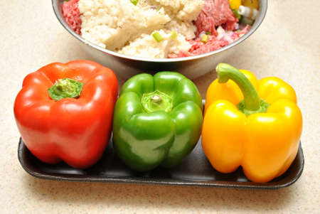 stuffing: Colorful Peppers for Stuffing