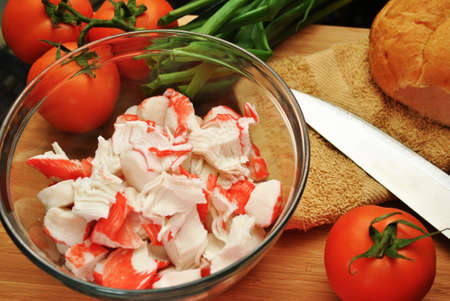 crabmeat:  Ingredients for a Seafood Salad Sandwich