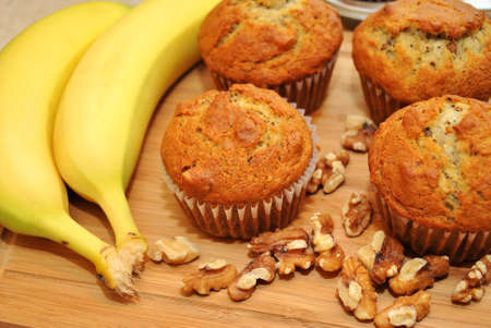 Banana Nut Muffins with Fresh Ingredients