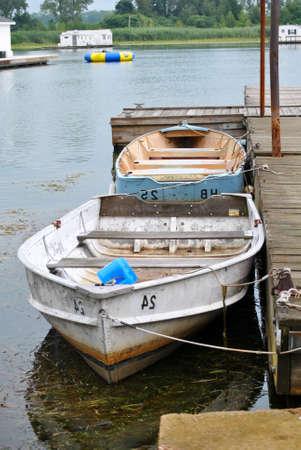 rowboats: Docked Rowboats  Stock Photo