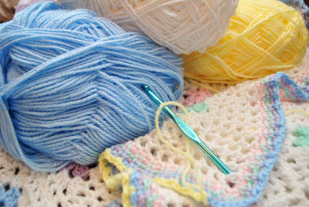 Crocheting a Multi Colored Baby Blanket
