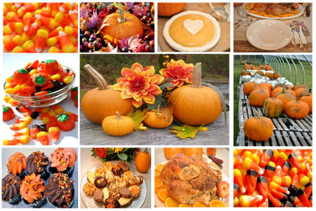 Delicious Thanksgiving Food Collage photo
