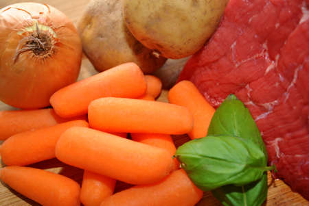 Fresh Ingredients for Beef Stew
