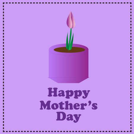Mothers Day-Purple Flower