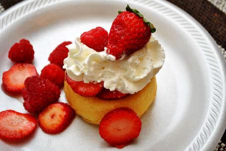 shortcake: Red Berry Shortcake Stock Photo
