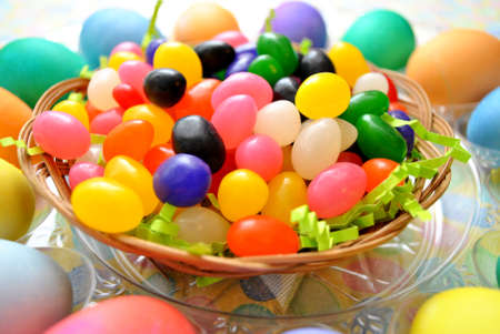 Jelly Beans with Easter Eggs photo