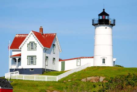 Close-Up of Cape Neddick Lighthouse, Maine, Usa photo