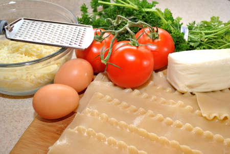 grate:  Fresh Lasagna Ingredients