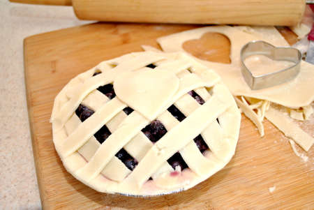 blueberry pie: Raw Hecho en casa pastel de ar�ndanos