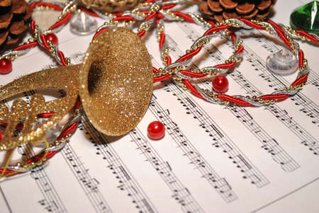 Decorations on a Music Sheet photo