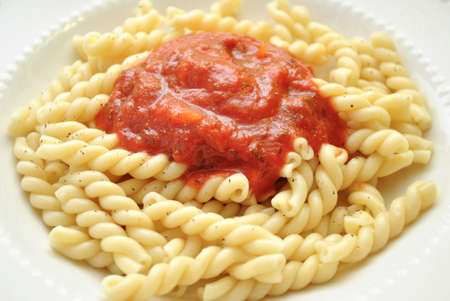 multiples: Gemelli Pasta with Tomato Sauce