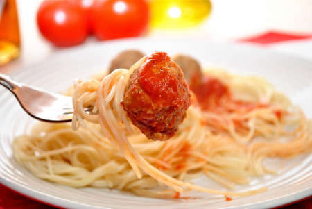 Meatballs on Spagheti photo
