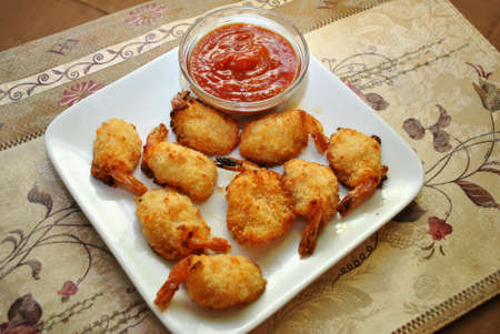 Cocktail Sauce with Breaded Shrimp photo