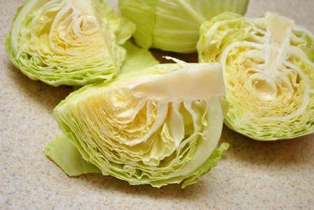 quartered: Quartered Green Cabbage