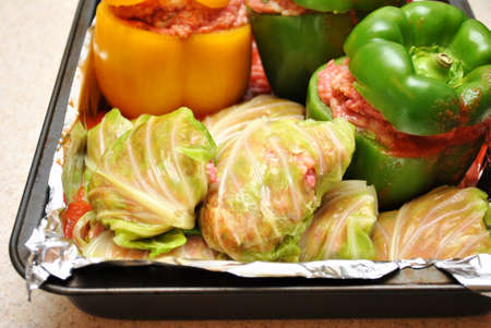Homemade Stuffed Cabbage in a Baking Pan