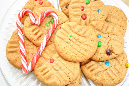 Delicious Cookies and Two Candy Canes photo