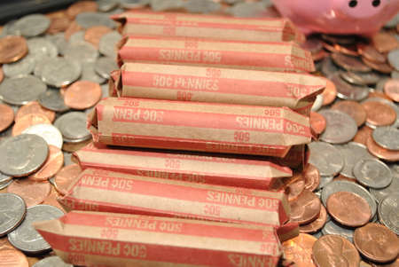 coinage: Rolled American Penny Coinage
