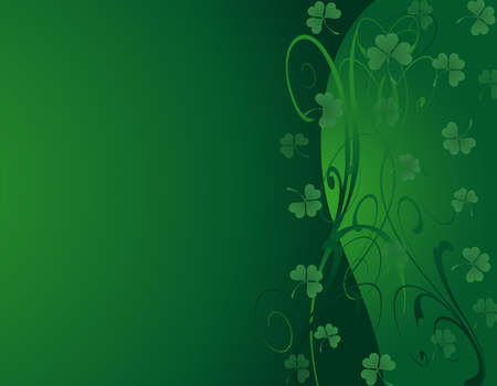 An Illustration of a green background for St Patrick s Day Vector
