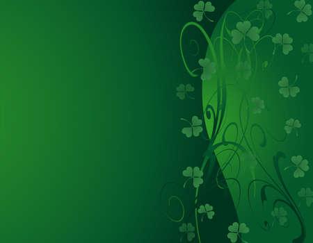 st patrick s day: L'illustrazione di uno sfondo verde per San Patrizio s