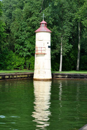Waterworks Faro de la isla de Presque PA Foto de archivo - 25950266