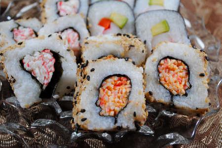 寿司のクローズ アップ