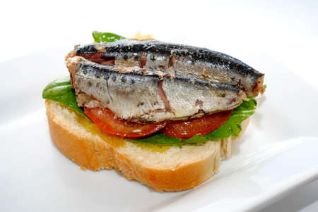 Open Faced Sardine Sandwich