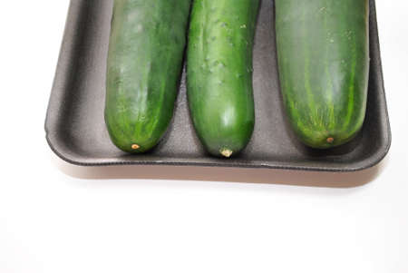 Three Cucumbers with Copy Space photo