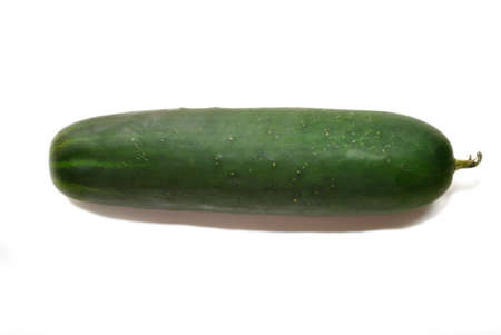 cuke: Whole Cucumber Isolated Over White