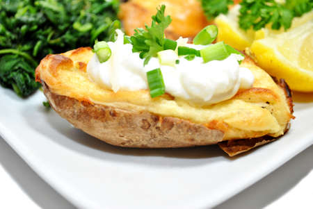 twice: Twice Baked Potato with Fresh Sour Cream and Chives