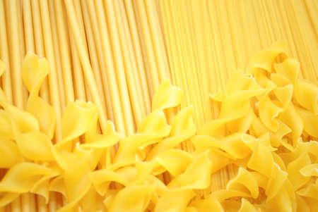 Background of Perciatelli, Angel Hair, and Egg Noodle Pastas 版權商用圖片