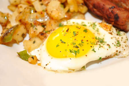 Close-Up of an Over Easy Egg Served photo