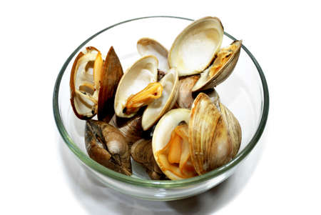 Glass Bowl with Cooked Clams