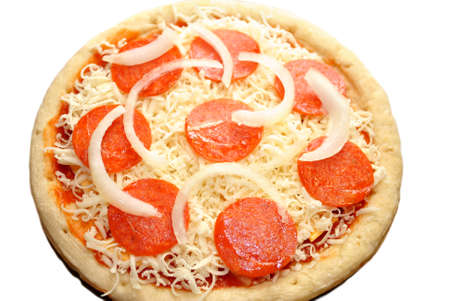 hotter: Whole Raw Onion and Pepperoni Pizza