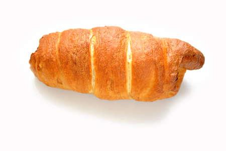 pretzel: Baked Pretzel Dog Isolated Over White