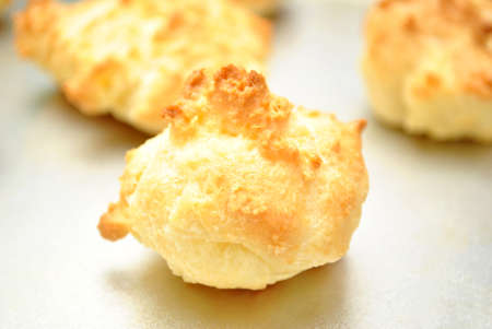 browned: Browned Biscuit Close-Up Stock Photo
