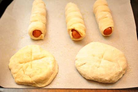 pretzel: Raw Pretzel Dogs and Rolls