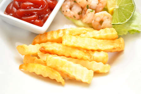 catsup: Side Dish of Fries with Catsup