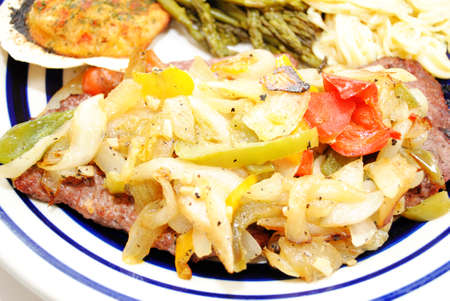 smothered: Cube Steak Smothered with Fried Onions and Peppers
