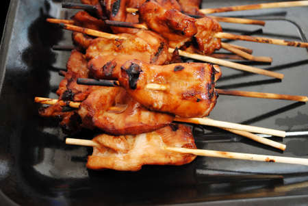 Delicious Teriyaki Marinated Chicken Cooked on the Grill photo