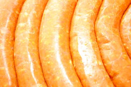 hots: Close-Up of Hot Pork Sausage Links