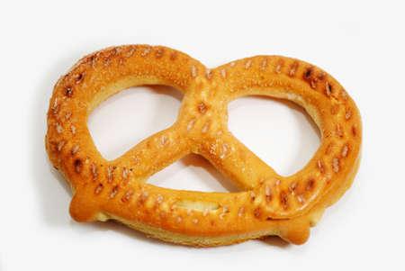 pretzel: Frozen Soft Pretzel Ready to be Baked Stock Photo