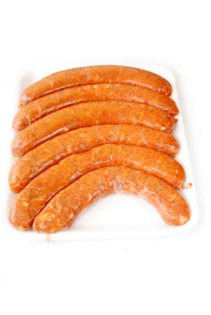 hots: Hot and Spicy Pork Sausage Over White